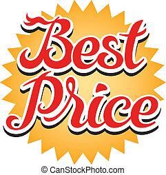 Best Price Sticker - Best price sticker, vector illustration
