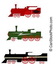 Locomotive - Steam locomotives set