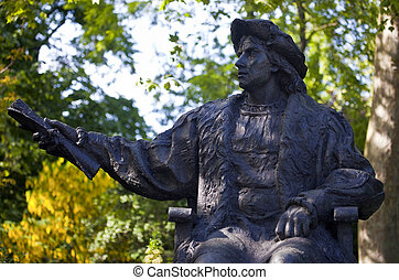Christopher Columbus Statue in London