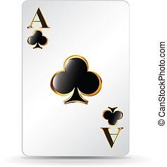 Clubs playing card vector