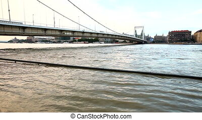 Flooding of the river Danube in Budapest