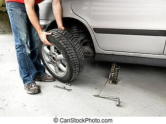 neumático, cambio