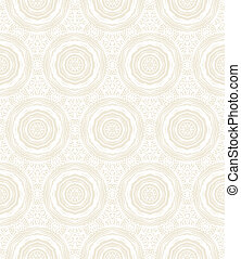 Elegant circular pattern in white