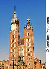 St. Mary's Basilica (Mariacki Church) gothic church in...