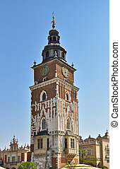 Town Hall in Cracow - Old historical town hall building in...