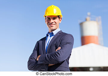 industrial engineer in mining site - male industrial...
