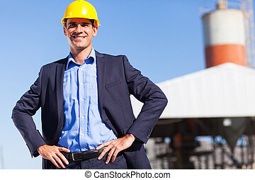 industrial manager - handsome industrial manager portrait...