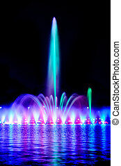 Wroclaw fountain show - Multimedia laser colorful musical...