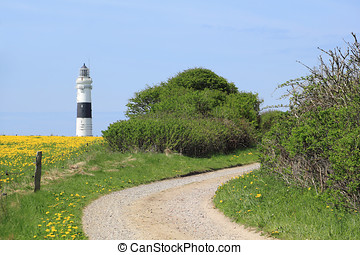 Path to the lighthouse of Kampen on the Island of Sylt - The...