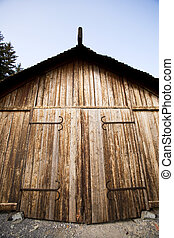 Viking Storage Building - A viking boat house - for storage...
