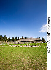 Viking Longhouse - A viking long house on a historic farm