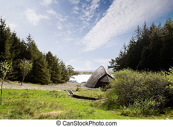 Viking Boat House - A viking storage building for boats and...