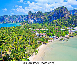 stunning view on railay bay in thailand