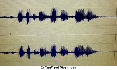 sound edit - waveform sound edit
