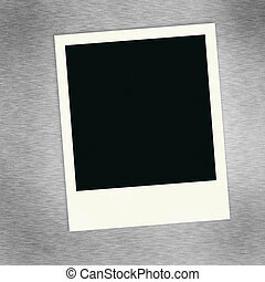 Polaroid - A single blank image on a brush aluminum...