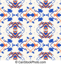 Ikat pattern - Vector seamless colorful hipster pattern with...