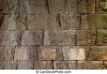 Rock Wall - A background texture of a rock wall