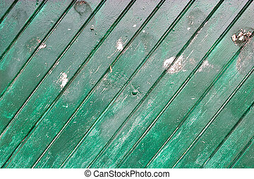 Green Wood Wall - A green wood wall texture