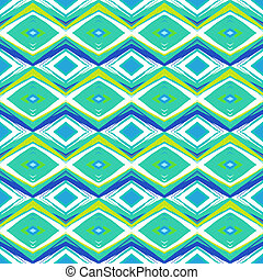 Modern pattern in hipster style, in mint green and royal...