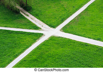 Grass crossroads - Crass grossroads in the middle of...