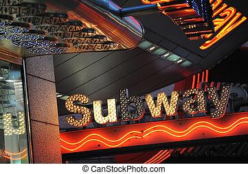 NYC subway - New York subway station sign at Times Square