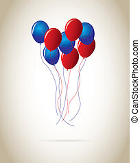 ballons design over beige background vector illustration