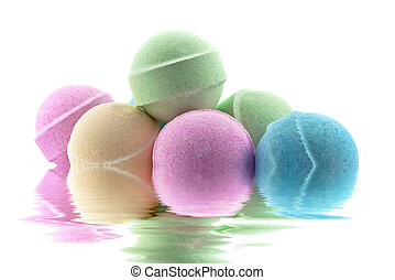 Bath bombs ib water - Bath bombs in the water with...