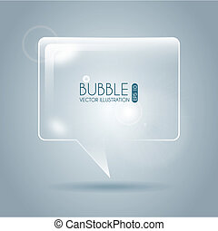 bubble icon square design over gray background vector...