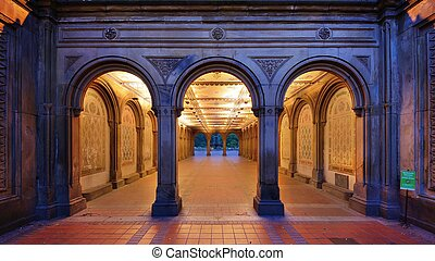 Bethesda Terrace Underpass - The pedestrian underpass at...