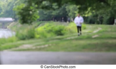 I am almost ready - Jogging in the nature... out of focus...