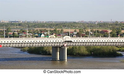 Bridge named after the sixtieth anniversary of victory Omsk...