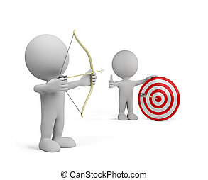 3d person – archery - 3d person gets in the center of the...