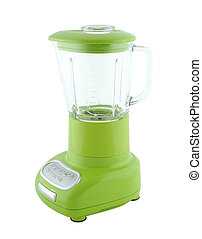 Blender - Kitchen appliances - green blender, isolated on a...