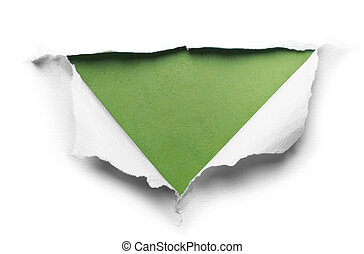 white torn paper with triangle shape
