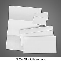 blank Set Stationery Corporate ID - business stationary set...