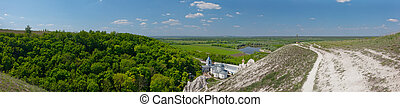 Divnogorsky Sacred Uspensky man's monastery in the summer