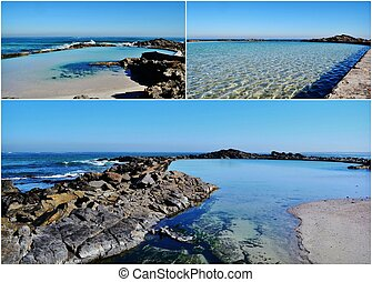 Tidal pool - Landscape collage with tidal pool in...