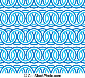 seamless blue circle Chain pattern - Seamless circle chain...