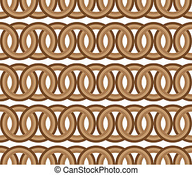 seamless brown circle Chain pattern background vector