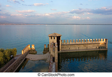 Lake Garda Panoramic Sunset View - Lake Garda panoramic...