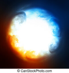 Abstract background, explosion in the sky - Explosion in the...