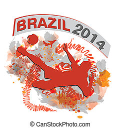 brazil football 2014 - vector football player