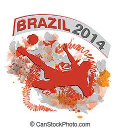 brazil football 2014 - vector football player