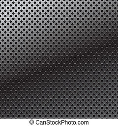 Vector pattern of perforation metal background - Pattern of...