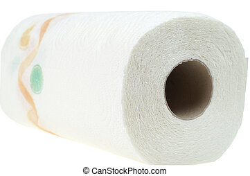 Paper towels isolated on a white background.