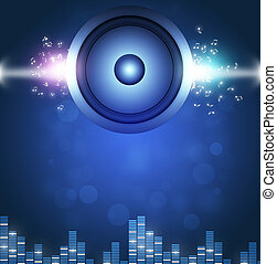Blue Sound Speakerl Music Background - blue sound speaker...
