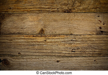 Rustic Wooden Plank Background - Antique and aged rustic...