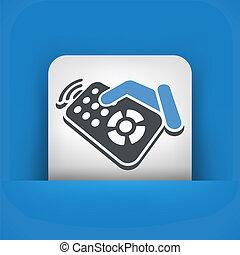 Remote control label icon