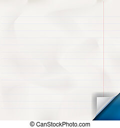 White lined paper texture, vector Eps 10 illustration.