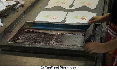 Manual silk screening. - Technic process manual silk...